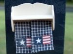 Americana Hand Towel & Towel Bar Shelf Set