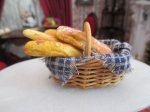 Basket with Loaves of French Bread
