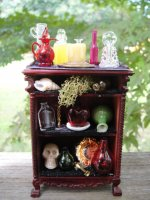 Bespaq Decorated Halloween Shelf/Cabinet