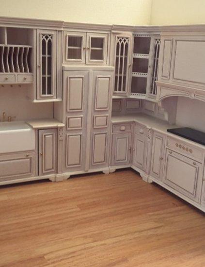 Cambridge White Wash Kitchen 5 Piece, White Washing Laminate Cabinets
