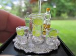 6 Pc. Vodka & Tonic Set on Tray w/ Pitcher & 2 Glasses