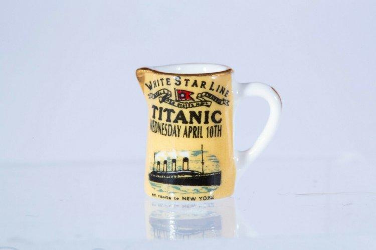 English R M Porcelain Jug Or Pitcher With Titanic Logo 19 95 Karen S Dollhouse Shop Unique Handcrafted Dollhouse Miniatures