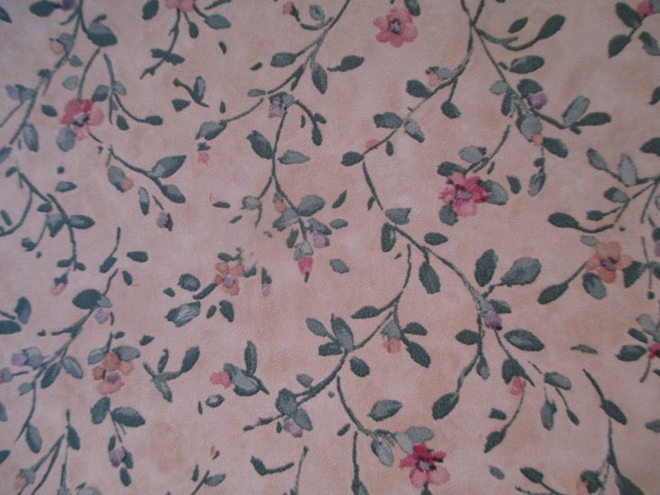 Nc71804 Beige Background Flowers Pre Pasted Wallpaper