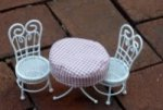 Ice Cream Parlor Table & Chairs Set of 3
