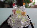 6 Pc. Gin & Tonic Set on Tray w/ Pitcher & 2 Glasses