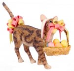 Easter Basket with Sneaky Cat