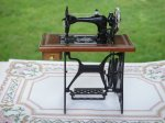 Walnut Sewing Machine by Reutter
