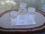 Set of 3 Glass CAnning Jars - Clear