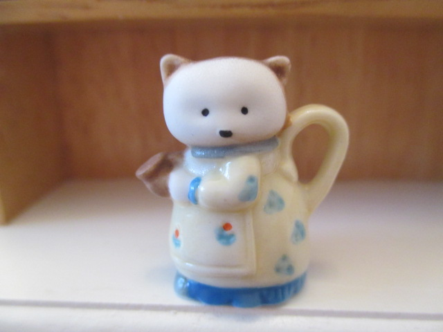 Teapot - Cat or Kitten in Dress - Adorable