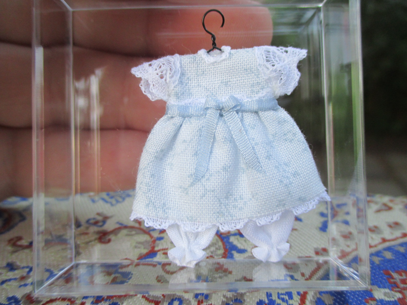 Cheryl Warder - Little Girl's Blue Romper Dress