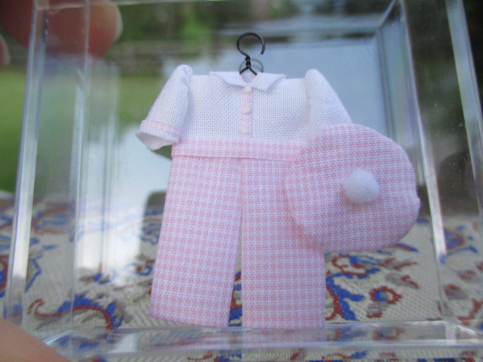 Cheryl Warder - Little Boy's Pink & White Outfit