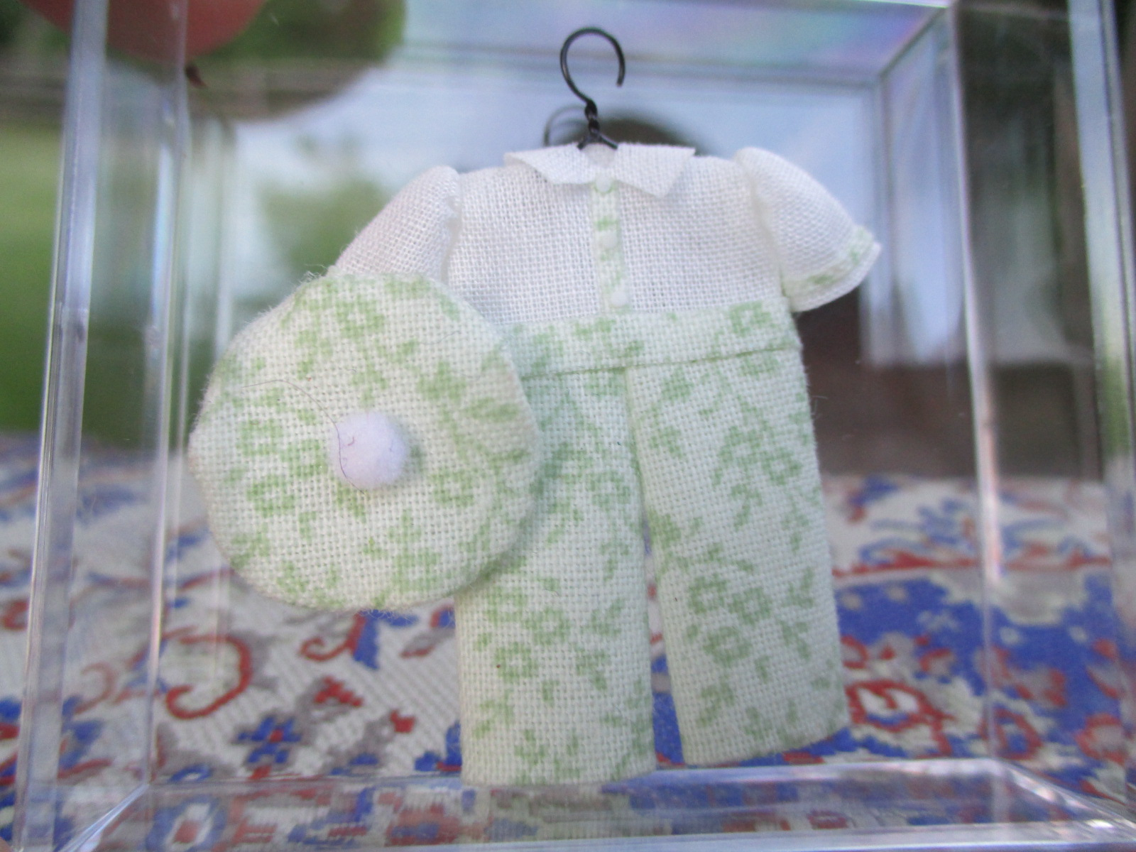 Cheryl Warder - Little Boy's Green & White Outfit