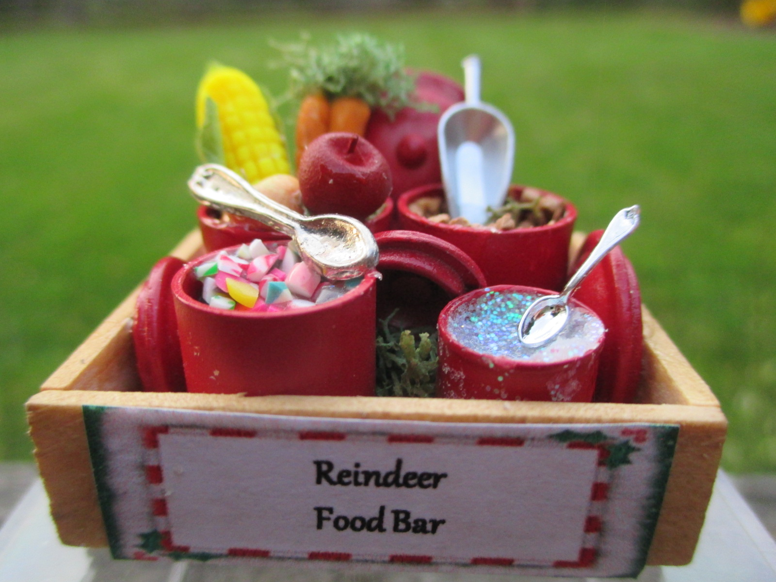 Christmas Reindeer Food Bar in Wooden Crate ~ Carrots