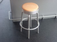 Bar Stool - Metal Peach Color