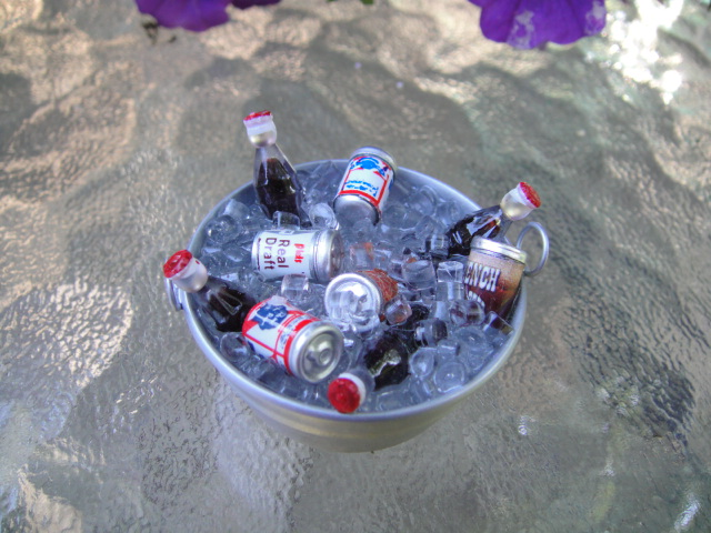 Beer & Soda on Ice in Galvanized Tub