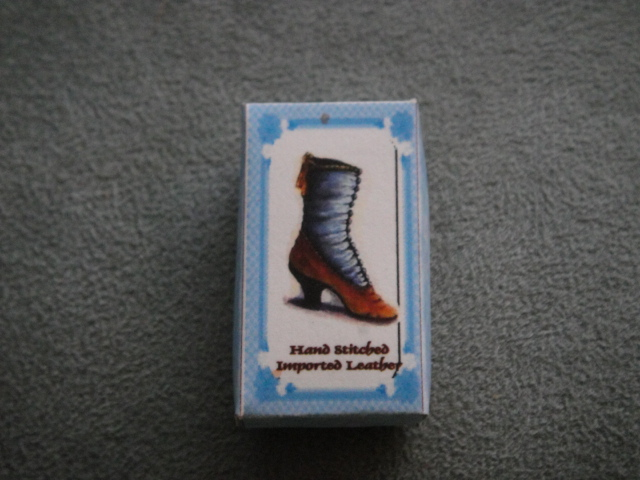 Ladies Victorian Boot Shoe Box - Blue