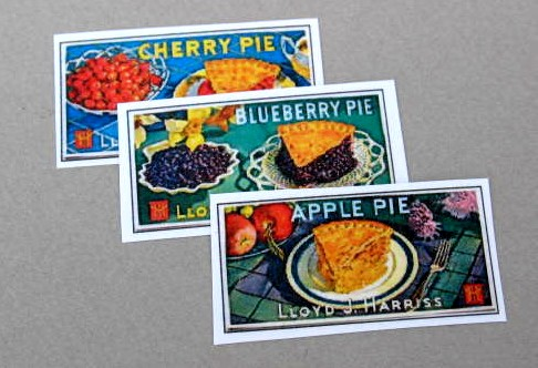 Set of 3 Pie Signs