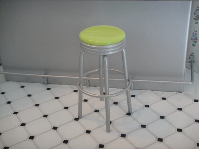 Bar Stool - Metal Green Color