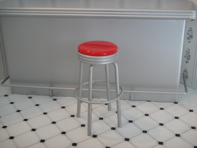 Bar Stool - Metal Red Color