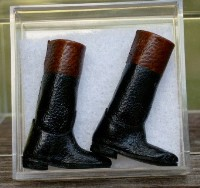 Leather Riding Boots - Black and Brown