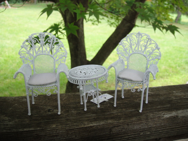 3 Piece Wicker Set - Table and Two Chairs