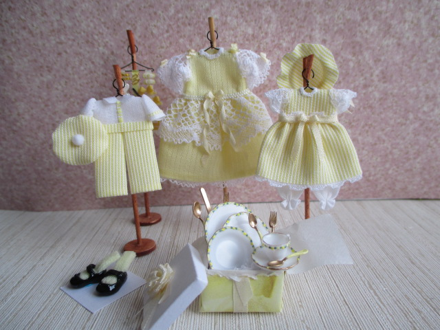 Adorable Child Dresses & Barret Display w/ Shoes